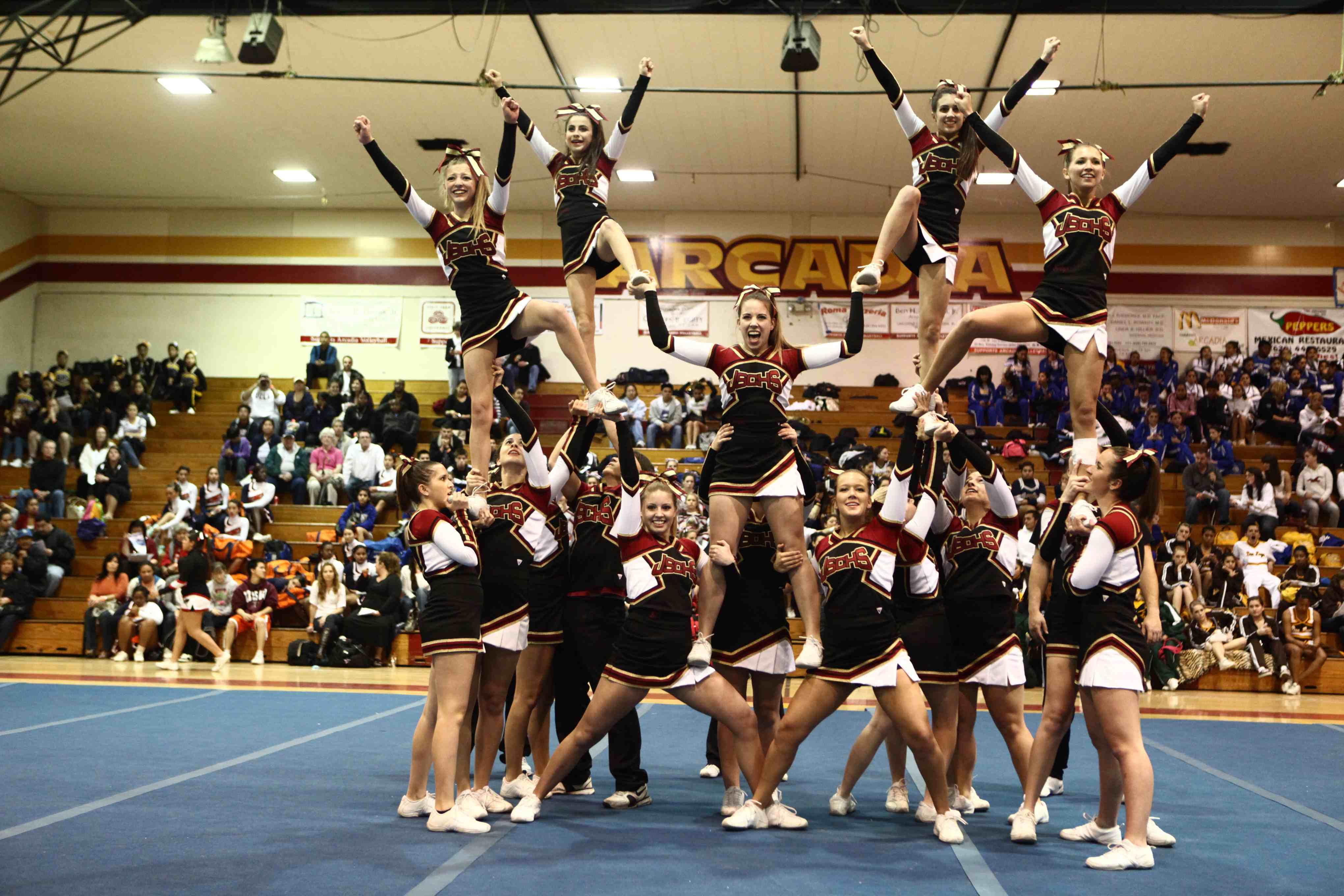 183 best CHEER Stunts images on Pinterest Cheer coaches Pictures high school cheerleading stunts