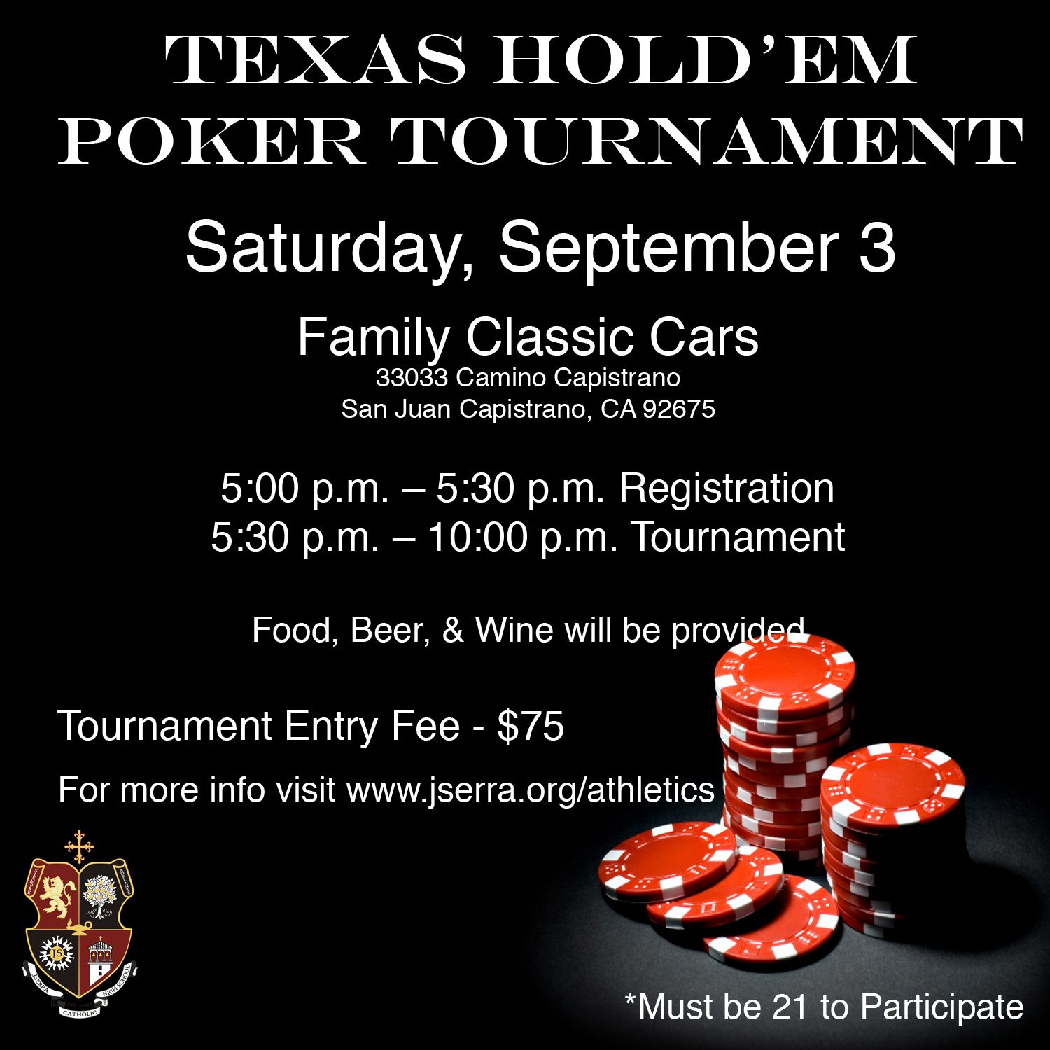 JSerra Athletics Texas Hold 'Em Tournament Returns