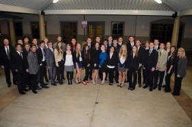 JSerra Business Magnet Program students before they head to UCI for the Distingushed Speakers Series