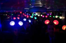 Mickey Mouse ears light up the bus as the students excitement carries on the way home.