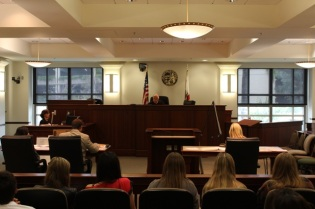 Mock Trial session held at the Chapman University Law School