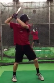 Jake Pries at Batting Practice