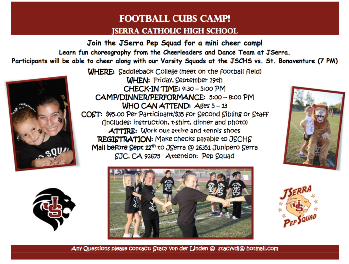 JSerra CHS Blog_Cubs Camp 2014