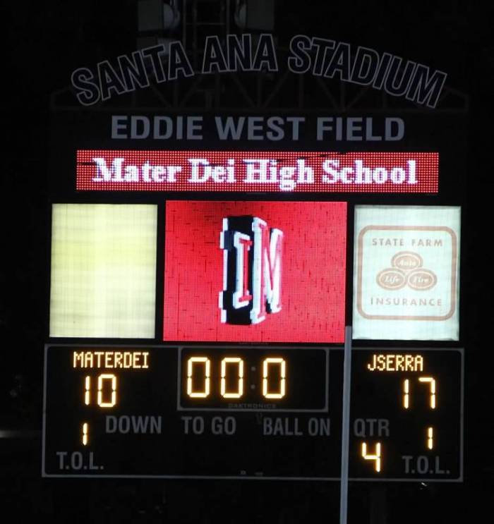 JSerra Football Defeats Mater Dei